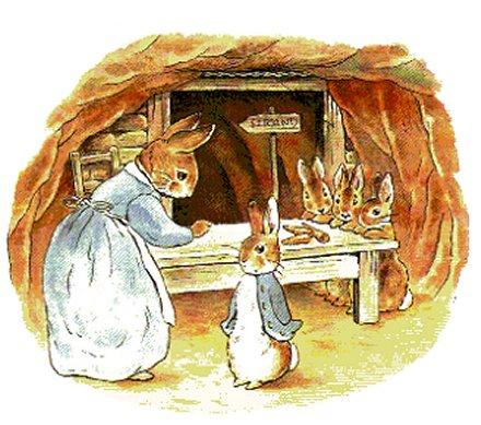 Peter coniglio con la mamma