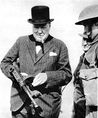 winston churchill tommy gun