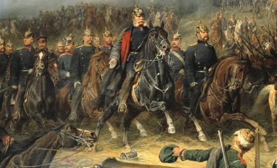 Wilhelm I. in der Schlacht bei Königgrätz Gemälde von Christian Sell, o. J.