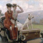 Julius_LeBlanc_Stewart_-_Les_Dames_Goldsmith_au_blois_de_Boulogne_en_1897_sur_une_voiturette