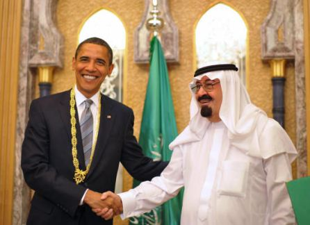 President Obama with King Abdullah