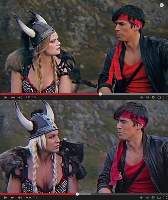 Vichinga del trailer sopra, del film sotto.