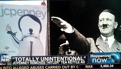 La sintesi grafica di Hitler in un bollitore.