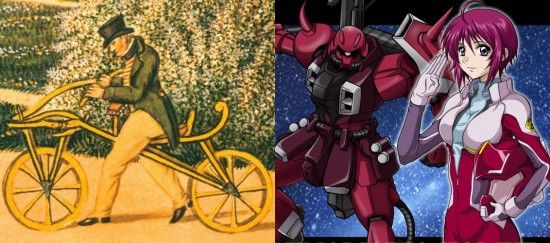 Gli occidentali hanno Karl von Drais che guida una bicicletta priva di pedali. I giapponesi hanno mech giganteschi pilotati da belle ragazze con capelli di strani colori, fasciate in tutine attillate. Davvero dobbiamo discutere su chi abbia ragione?