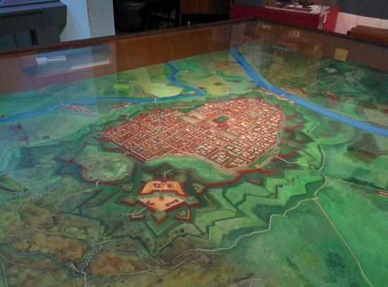 Assedio di Torino, plastico delle fortificazioni presso il Museo.