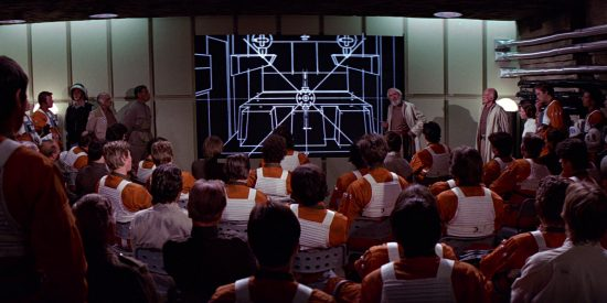 """""""Ecco, questo è ciò che vedreste se guidaste un Atari 2600 al posto di un X-Wing."""""""