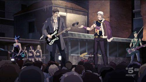 Adrian e la band che fa cover dei Negramaro.