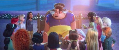 Ralph vestito come Biancaneve